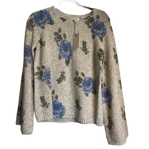Lucky Brand/ Floral Sweater Top